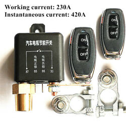 Dual Wireless Remote 12v Battery Power Disconnect Relay Master Kill Switch Car