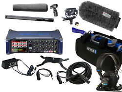 Zoom F8n And Sennheiser Mkh416 W/ Rycote Softie Kit Or-27 Bag And Sony 7506and039s