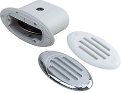 Marine Boat Drop-in Hidden Horn Compact V.2 Horn W/ White And Chrome Grills