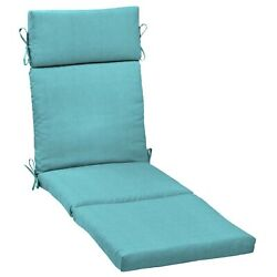 Chaise Lounge Cushions Outdoor Chair Deep Seat Patio Pad Uv Resistant 72x21 Turq