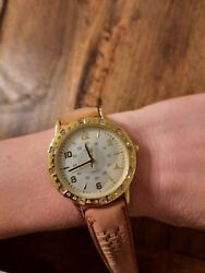 Qvc Jackie Kennedy Collection Camroseandkross Women's Largeface Watch Leather Bnd