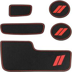 Cup Holder Insertandcenter Console Shifter Liner Trim Mats Custom For Dodge 14-20