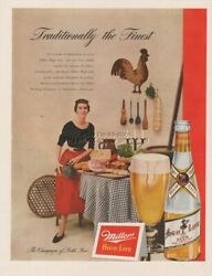 1950 Miller High Life Beer Milwaukee Wi Wisconsin Traditionally The Finest Ad
