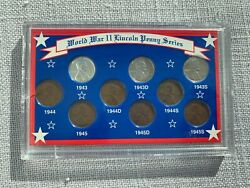 World War Ii Lincoln Penny Series Coin Set Zinc Coated Steel Copper