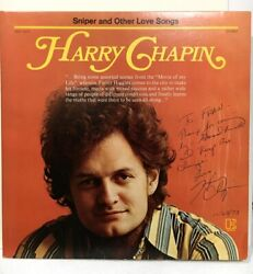 Harry Chapin Signed Album - Lp Sniper And Other Love Songs--great Dedication