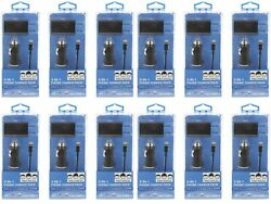 Lot 12 3 Ft Black Psg 8 Pin 3 In 1 Car Auto Home Charger Sync Kit For Iphone X 5