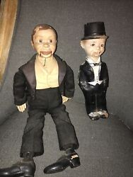 Two 1930s Effanbee Charlie Mccarthy Ventriloquist Dolls
