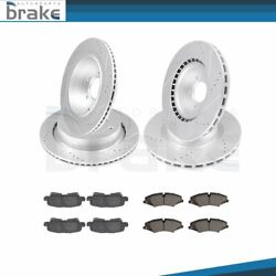 For Land Rover Lr4 2010 - 2012 Front + Rear Brake Rotors Ceramic Pads Drill Slot