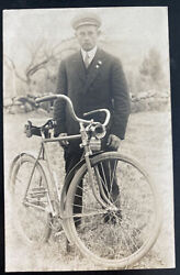 Mint Usa Real Picture Postcard Canterbury Depot 1915 Bike Bicycle Vintage