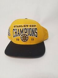 Boston Bruins 2011 Stanley Cup Champions Snap Back Baseball Hat