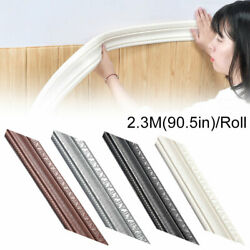 3D Self adhesive Wall Molding Skirting Lines Mural Border Home Decor Waterproof