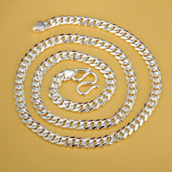 Pure S999 Sterling Silver Chain Men Women Special Fashion Curb Link Necklace