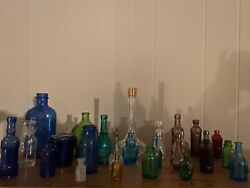Vintage Glass Bottles Lot Of 25 Milk Of Magnesia Other Medicine And More