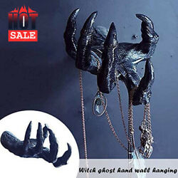 Witchand039s Hand Wall Hanging Statues Art Sculpture Resin Retro Wall Mount Decor
