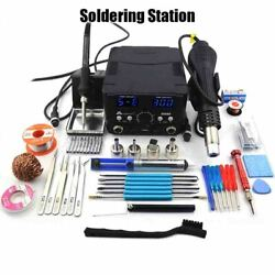 Soldering Station Led Desoldering Upgrade From 8586 Double Digital Display 2 In
