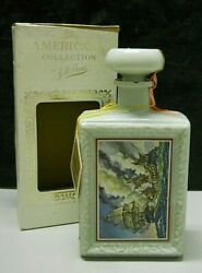 Jw Dant Whisky American Constitution And Guerriere Ship Battle Bottle Empty