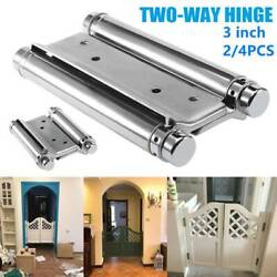 2/4pcs 3and039and039stainless Steel Double Action Spring Door Hinge Saloon Cafe Door Swing