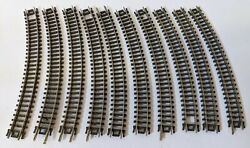 Lot Of 10 Vintage Atlas N Gauge Scale 2520 Curved Train Track Pieces