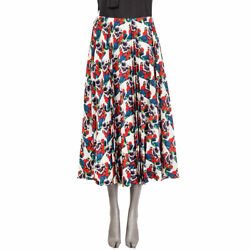 62837 Auth Valentino X Undercover Lovers Red Printed Silk Midi Skirt M
