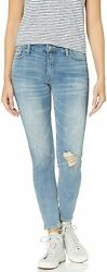 Lucky Brand Womenand039s Mid Rise Ava Skinny Jean In Sierra With Foil Stripe