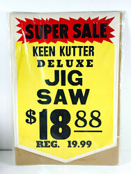 Vintage Keen Kutter Double Sided Store Display Jig Saw Advertising