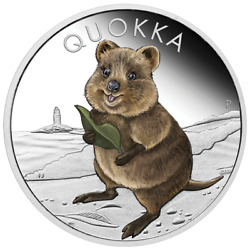2021 Australia 1 Quokka Colorized Proof 1 Oz .9999 Silver Coin - 5000 Made