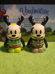 Disney Vinylmation 3 Park Set 1 Easter Oswald Lucky Rabbit Lot Variant And Non