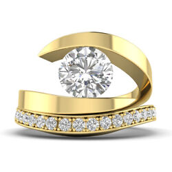 1.22ct D-si1 Diamond Wedding Set Engagement Ring 14k Yellow Gold Any Size