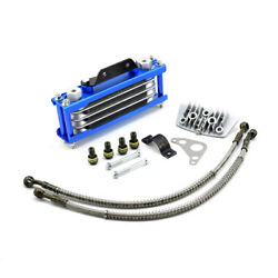 Blue Motorcycle Oil Cooler Radiator Cnc Plate Cooling 110cc-200cc Universal