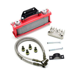 Red Motorcycle Oil Cooler Radiator Cnc Plate Cooling 110cc-200cc Universal