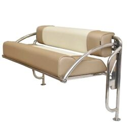 Parker Boat Transom Bench Seat   49 3/8 X 27 3/8 Inch Aluminum