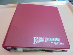 Vintage Lot Of 9 Farm Collector Magazines In Binder 2001