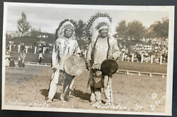 Mint Real Picture Postcard Native American Indian Chief Pendleton 1950s