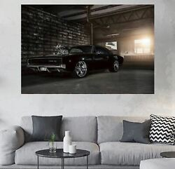 1969 Dodge Chargers Car 1 Pc Canvas Print Wall Picture Poster Home Decor