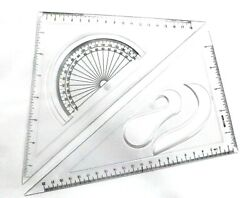 Triangle Clear Plex Plastic Speed Square Set Of Two 810 Ruler Miter Framing