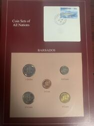 Coin Sets Of All Nations Barbados 5 Coins Set 1992-1996 Rare