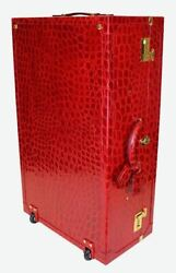 Terrida Royal Suitcase Xl Garment Bag Travel Trolley Real Embossed Calf Leather