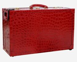 Terrida Royal Suitcase S Garment Bag Travel Trolley Real Embossed Calf Leather