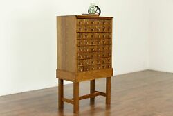 Oak Antique 48 Drawer Office, Jewelry, Collector, Crafts, Or Parts File 36949
