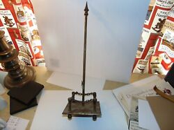Unique Miniature Exact Replica Of Flag Pole In Brass With Moving Parts 19 4 Lbs