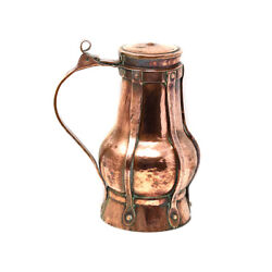 Antique English Arts And Crafts Copper Flagon