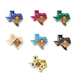 Texas Conference Faith On Fire 2004 Vintage Pin Set For Charity Pin Set