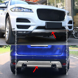 For Jaguar F-pace 16-20 Stainless Frontandrear Bumper Protector Guard Skid Plate