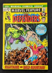 Marvel Feature 2 Presents The Defenders Mar '72 Fn, Uncertified, Ungraded.