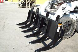 Skid Steer Extreme Duty 84 Brush Rake By Site Pro6- Tines Universal Fit