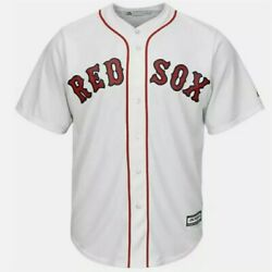 New Boston Red Sox Mens 2xl Xxl Jersey Majestic Mlb Home White Cool Base Blank