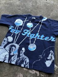 Vintage Kids Toddler Size 90s Foo Fighters Band T Shirt Handmade Single Stitch