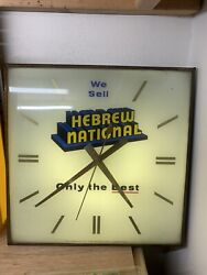 Vintage Hebrew National Pam Clock 1971 - Clock Hands And Light Fully Working