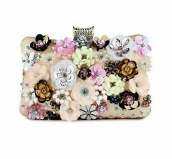 Flowers Plastic Women Small Day Clutch Handbags With Handle Females Evening Bags $37.57