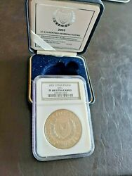 Cyprus 1 Pound 2005 Proof Uncirculated Pf68uc Ngc With Official Box And Coa